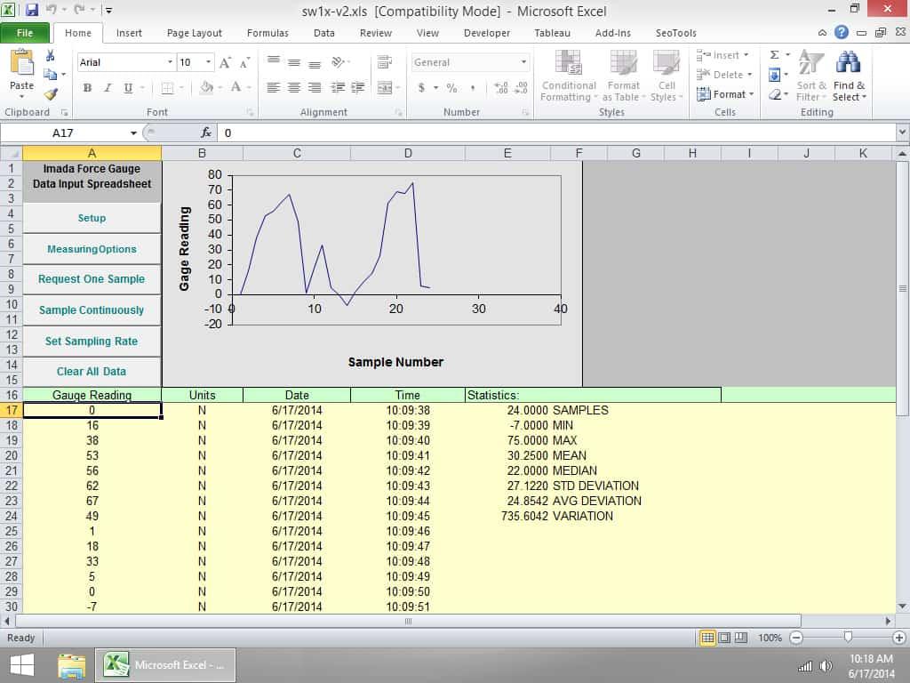 SW-1X Force Data Acquisition