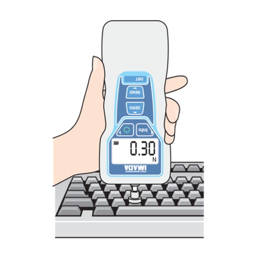 DST digital force gauge keyboard test